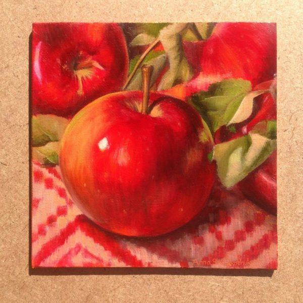 Red Apples Oil Paintings Original Art Harvest Apple Still